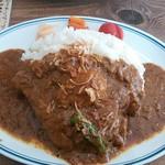 カラクタ食堂 - チキン(大辛・ご飯大) 850円