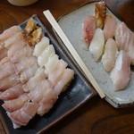 十円寿し - 「十円寿司 (350円)」vs「上寿司(450円)」 の大きさ比較♪