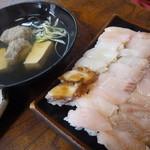 十円寿し - 一つ一つが小さくて可愛い♪ 親指サイズの小さなお寿司 「十円寿司 (350円)」