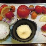 アジト - フルーツトマト4種盛り(上下逆?)