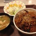 すき家 - チャプチェ牛丼 サラダセット 480円☆(第二回投稿分①)