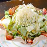 エルパンチョ - アボカドサラダ。森のバターとして親しまれているアボカドを使ったサラダは美と健康に気遣う女性に大人気!