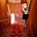 イタリア食堂USAGI - 急な階段ですみません。