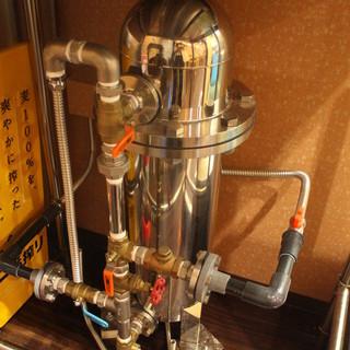 水はこだわりの抗酸化水。安全でクリーン、そして美味しいお水で「だし」をお作りしています。