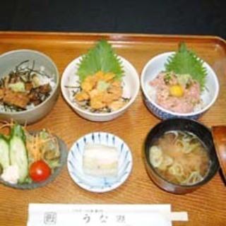 選べる3品 ミニ丼セット
