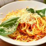 THANK YOU - バジルとパルメザンチーズのトマトソーススパゲッティ