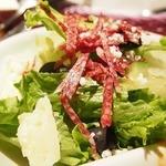 iL-CHIANTI OVEST - ●日替りランチ&ハーフサラダ TwoEat 1,020円             ミニ前菜、スープ、ドリンク、パン付き              この日の日替わりはサーモンでした。