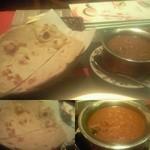 ケララ - ロティ(大麦の薄焼きパン)とマチリゴアンカレー(南インドのブリを使ったカレー)