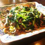 アジト - 砂肝とターサイの中華風炒め