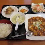 氷花餃子 - 日替りランチ(麻婆豆腐)