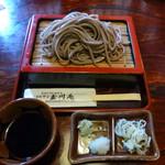 玉川庵 - ざるそば 735円(海苔なしにしてもらった)
