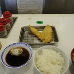 天ぷらのひらお - 料理写真:白身魚と海老