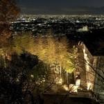明月記 - 明月記庭からの夜景