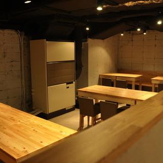 木目とコンクリートのハイセンスな空間!!