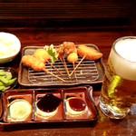 ひょっとこ - 料理写真:ほろ酔いセット ビール片手にいかがですか♪