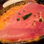 千年葡萄家 - 生ハムのっけ鉄板卵焼き(600円)