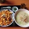 吉祥 - 料理写真:ラーメンセット¥680(麻婆飯&豚骨ラーメンver)