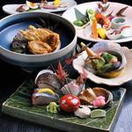 丸西商店 - コース料理は5,000円〜15,000円(税別)までご用意しております。(※写真は10,000円のコースイメージです。)