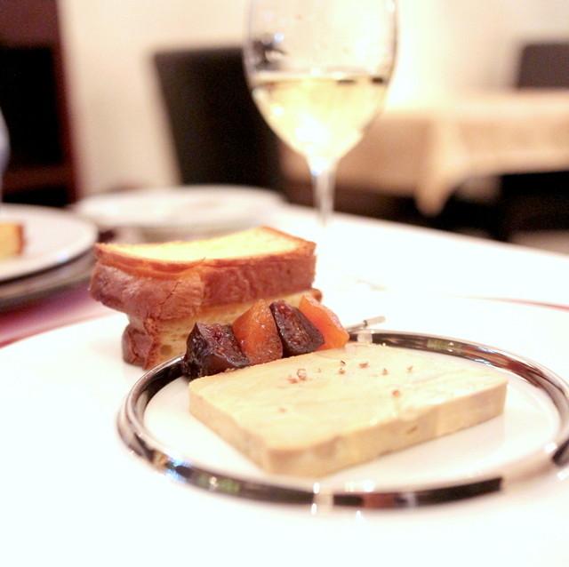 ダン ル シエル - フォアグラのテリーヌ イチジクとアプリコットのコンフィ ブリオッシュのトースト添え '14 2月上旬
