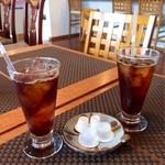 花ホタル - 食後のアイスコーヒー。