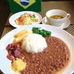 サボロザ - 【Feijoao】フェイジョンのランチプレートセットです。ブラジルコーヒー、デザートがつきます。