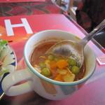 カラ デニス - 野菜がたっぷり入っているランチスープ☆