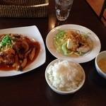 24407473 - 鶏の唐揚げ甘酢あんかけのランチ(800円)