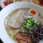 大島 - いりこラーメン+焼飯セット