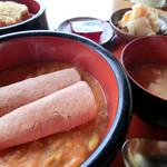 玄米食堂 楽土館 - 中からビーンズハム