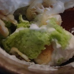 茶院 葉名木 - 炭酸フレークパフェを食べていくと・・・抹茶アイスお目見え!