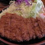 とんかつ かつ吉 - H26.2.22 ロースカツ定食(ロースカツ)