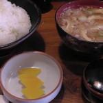 とんかつ かつ吉 - H26.2.22 ロースカツ定食(ご飯・味噌汁・お新香)