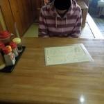 ひかり食堂 - 小上がりテーブル上 H25.5