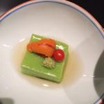 小の半 - アスパラ豆腐