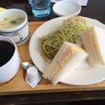 胡友 - 茶わん蒸し付きサンドイッチモーニング