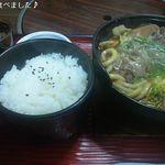 たこ柾 - 牛鍋定食(850円)