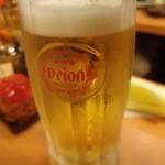 ちゅらさん亭 - 生ビールで乾杯。