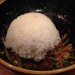 翠香 - 汁なし坦々麺。ライスを入れて混ぜご飯にします