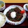 Resutoranwan - 料理写真:温玉のせレバニラ定食 690円