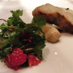 AKI NAGAO - 【2014年02月07日】 前菜 (なんといきなりお魚、そしてパクチーとラズベリー♪)