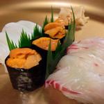高玉 - 寿司様はイカ様、うに様、鯛様の3種!!