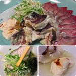高玉 - 鯛のアラとブリしゃぶ様~白子様も軽く炙られていて美味しい(^.^)
