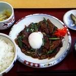 レストラン・ワン - 料理写真:温玉のせレバニラ定食 690円