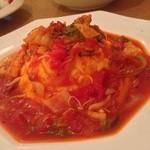 ブーンブーンキッチン - ○舌平目と冬野菜のトマトソースオムライス
