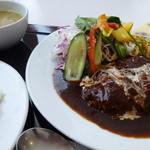 レストラン ユっぴー - ハンバーグセット  ¥980