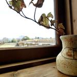 cafe moyau - 鶴見橋が見えます