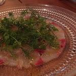 アルルの食堂 urura - Feb, 2014 長崎県産平政のカルパッチョ