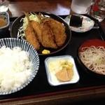 布袋庵 - あじフライ定食 ¥900
