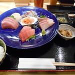 横濱屋本舗食堂 - 1800えん『特選お刺身定食(松)』2014.2
