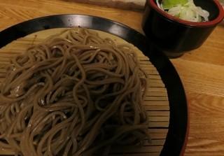 京橋 恵み屋 - ダッタン蕎麦。これでも小盛りです。